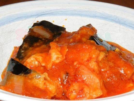 Guisado arabe de berenjenas,papas, cebolla, aji morron ...