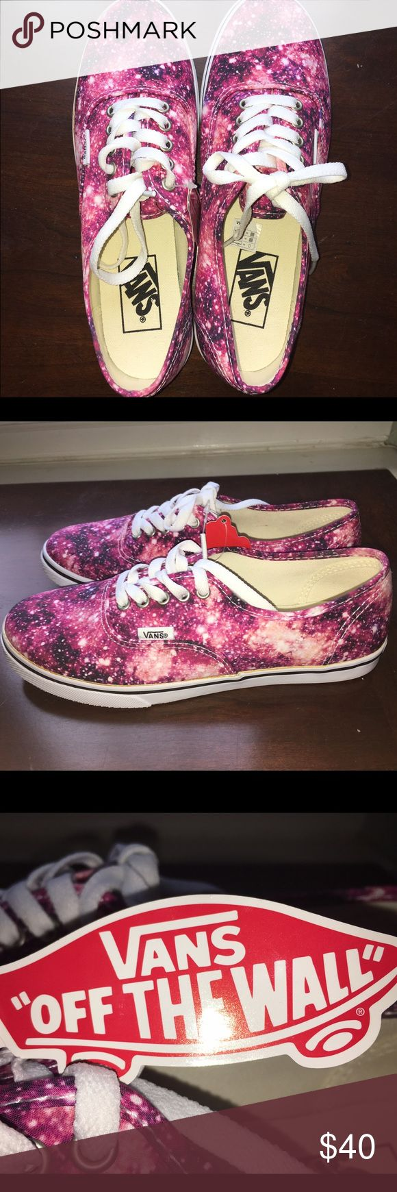 Cosmic Cloud Black/Coral Vans WILLING TO NEGOTIATE!  Brand New Cosmic Cloud Black/Coral Vans! In perfect condition...have never been worn! Vans Shoes