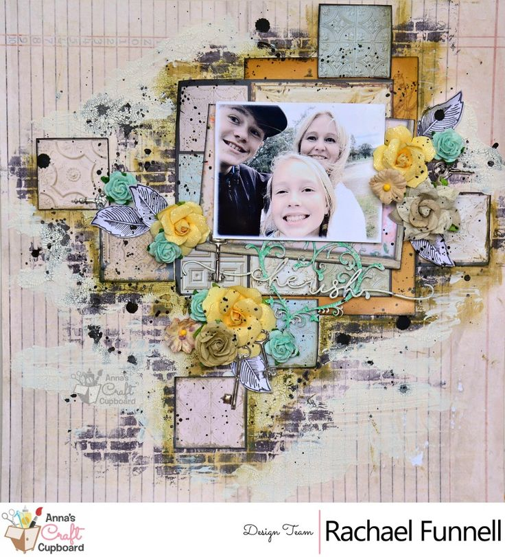 Hello Crafters  Rachael Funnell has some amazing mixed media creations to share with you this week, using the 7 Gypsies 'Architextures' collection.  First up, we have Rachael's layout titled 'Cherish' 💖👏😍 You can find more on her layouts over on Anna's blog...