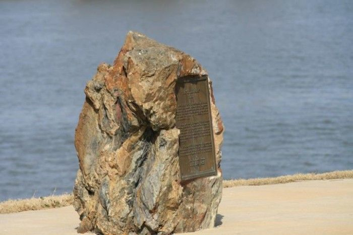 "2. The Little Rock: The actual ""Little Rock"" is the rock outcropping on the Arkansas River used as a navigation point during the early exploration of what would become the state of Arkansas. The town of Little Rock was established near this point, where this actual ""little rock"" serves as a marker."