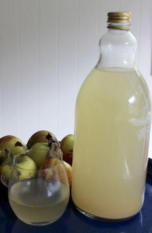 Home-made apple cider vinegar