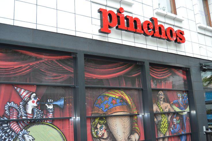 Pinchos Gothenburg Exterior Restaurant Signage LED