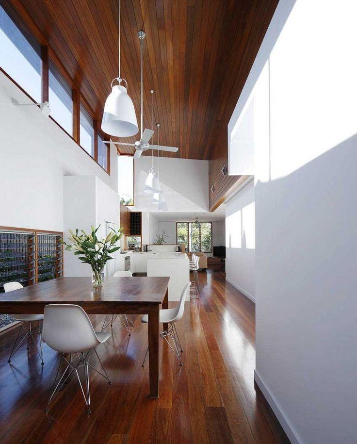 Wood ceiling / Shaun Lockyer Architects