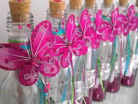 Areglo de mesa para los 15 Años con Mariposa en color Acuazul.77 - YouTube