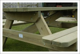 heavy duty picnic table - 6ft  celtic garden furniture - £215 +vat