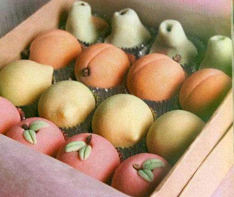 Frutas de mazapán!! que ricoooooo