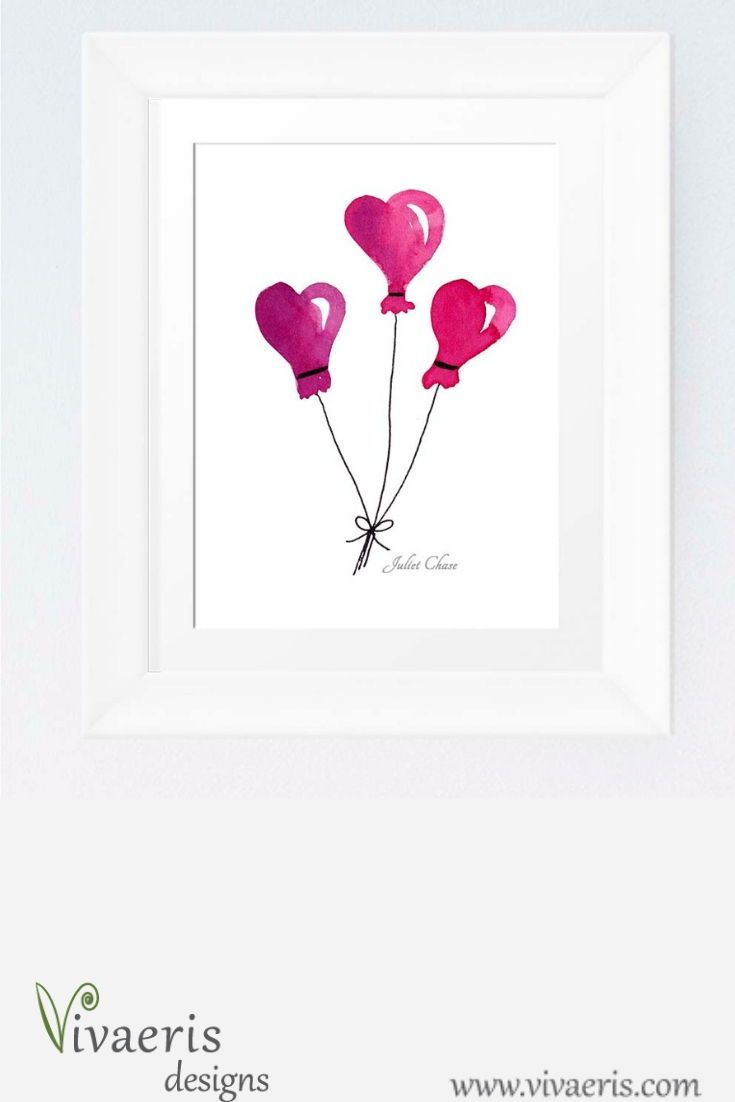 Watercolor Heart Balloons To Add A Little Love Wherever You Need