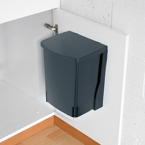 Keep your rubbish out of site with the Brabantia rectangular built-in bin  Manufactured of sturdy, 100% corrosion resistant materials - ideal for use in 'wet' rooms like the bathroom and kitchen  Easy to install in/take out of the bracket - easy handling  Brabantia bin liners available with tie-tape (size C)  Brabantia 10 year guarantee  Dimensions: Height 32.8 cm, Width 25.2 cm, Depth 21.0 cm