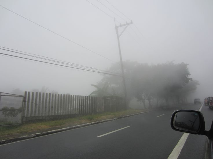 Fog covered road... On the way from Tagaytay Highlands...
