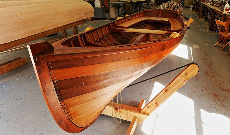 Acorn dinghy at the Northwest School of Wooden Boatbuilding