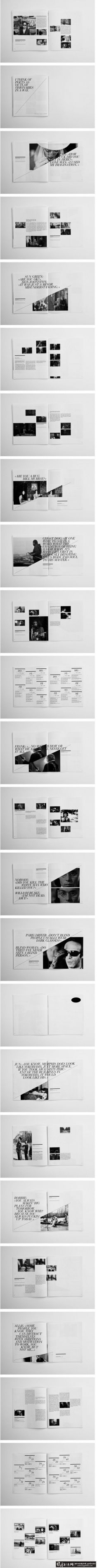 个性黑白画册设计 高档企业画册 时尚商业...