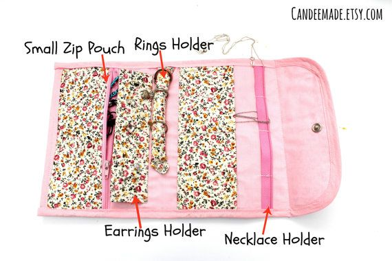 Floral Portable Jewellery Holder!