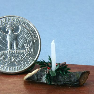 Make Miniature Dipped Wax Candles for a Traditional Yule Log Centerpiece
