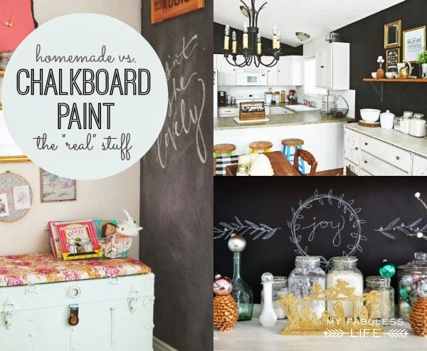 Homemade vs. Real Chalkboard Paint...plus how to paint furniture with chalkboard paint and distress it.