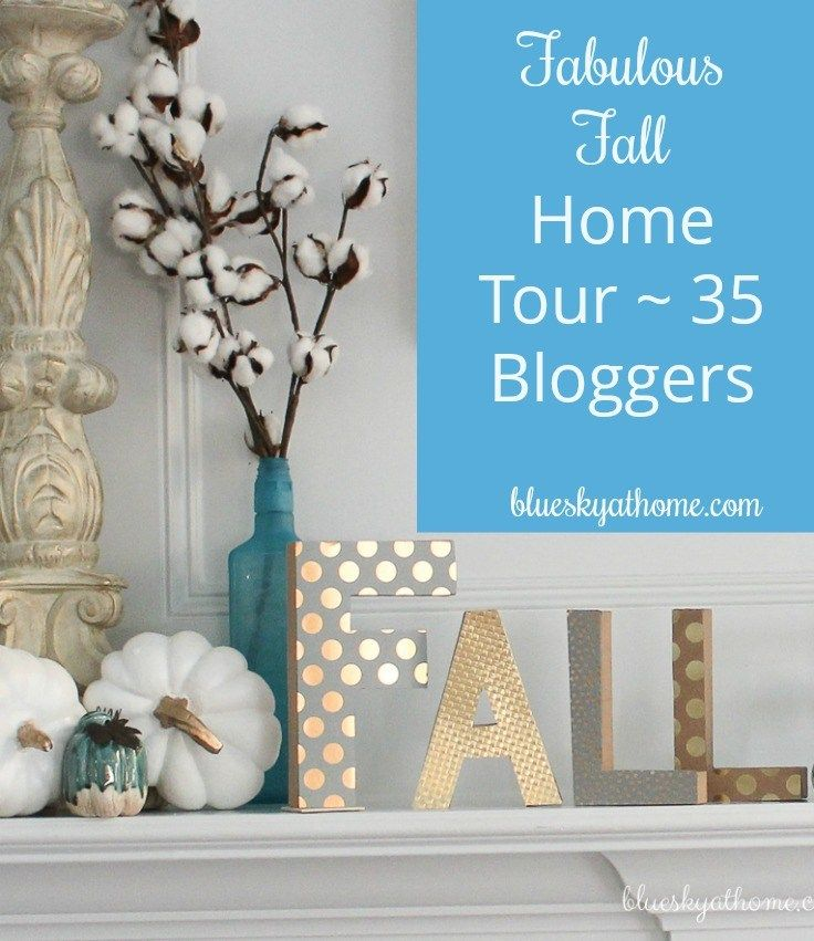 Fabulous Fall Home Tour ~ 35 Homes Share Inspiration. Fall decorating at its finest with bloggers sharing great home decor inspiration for the fall season.