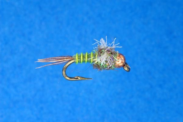 Wilcox 39 s little green machine chartreuse size 18 20 for Fly fishing shops near me