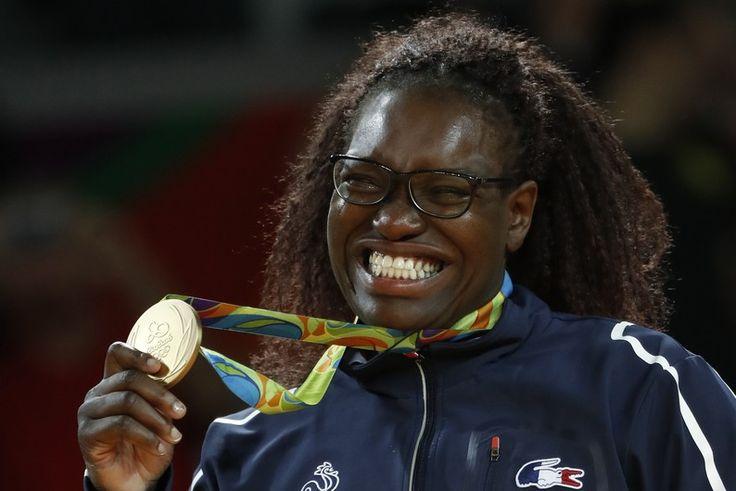 Emilie Andéol, Frankrike vann damernas judo +78 kg, 2:a Idalys Ortiz, Kuba, 3:or Kanae Yamabe, Japan och Song Yu, Kina.