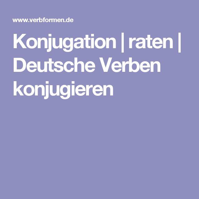 Konjugation | raten | Deutsche Verben konjugieren