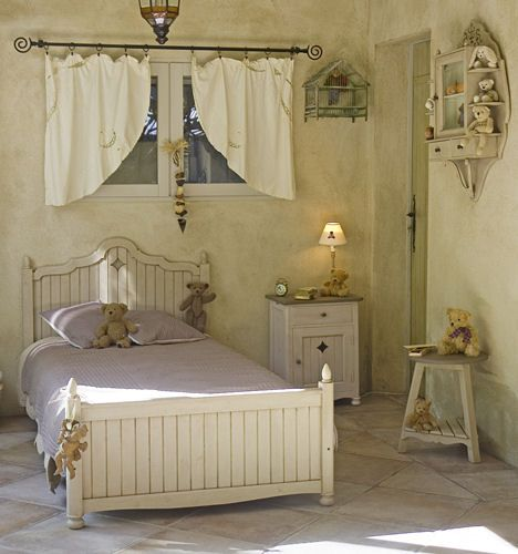 """Kids bedroom furniture by Matin D'ete (""""Morning of summer"""") - a French country style bed"""