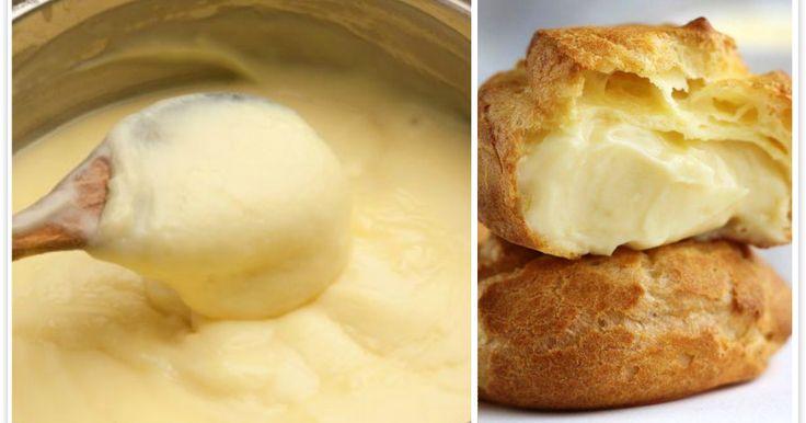 La crema pasticcera SENZA UOVA per farcire i vostri desserts in leggerezza!