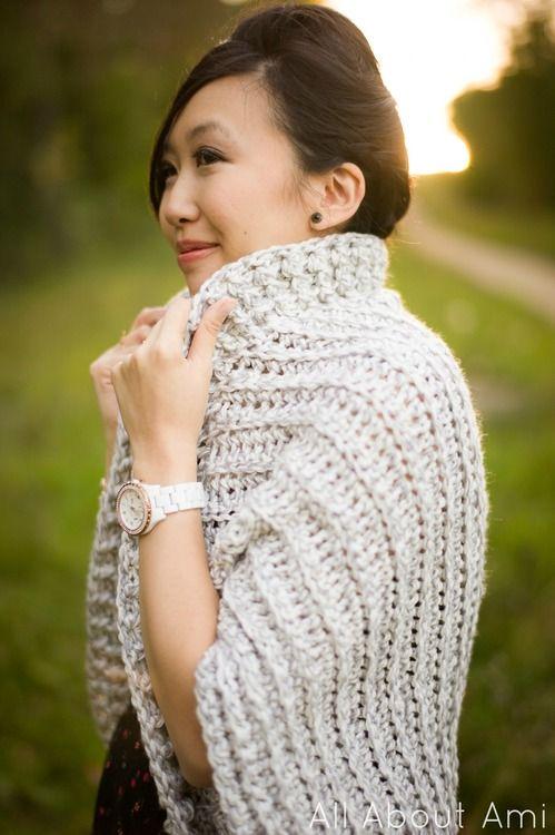 funky chunky easy crochet shrug/sweater!