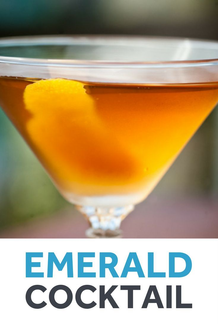 Essentially a Manhattan made with Irish whiskey, and with orange bitters in place of Angostura, the Emerald is the kind of drink that doesn't need a dose of green dye to be shamrock appropriate.
