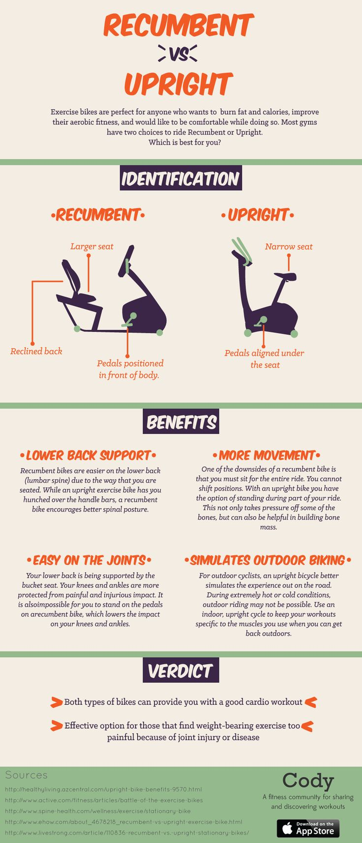 recumbent versus upright exercise bike infographic if you donu0027t know which bike to