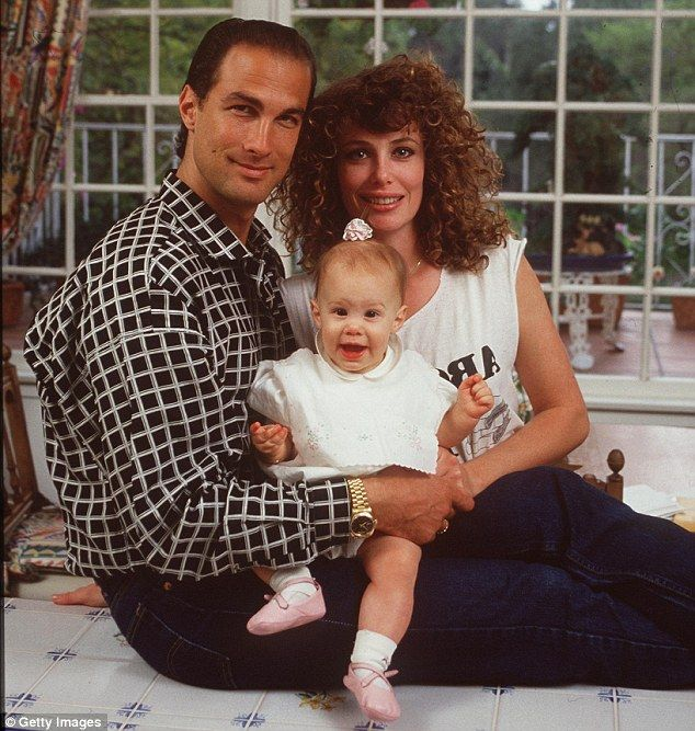 Steven Seegal & Kelly LeBrock. The couple, seen here in 1989 with their first child Annaliza; their marriage produce three children in total