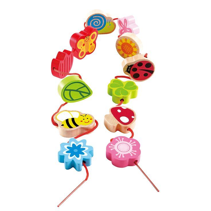 Met deze vrolijke pastelkleurige rijgvormen leer jij rijgen. Je kunt hier je eigen ketting mee maken. De vrolijke vormen hebben allemaal te maken met de lente, weet jij de namen en de kleuren van alle beestjes en bloemen? Leerzaam en ontzettend leuk! Zo leer je de naam ...