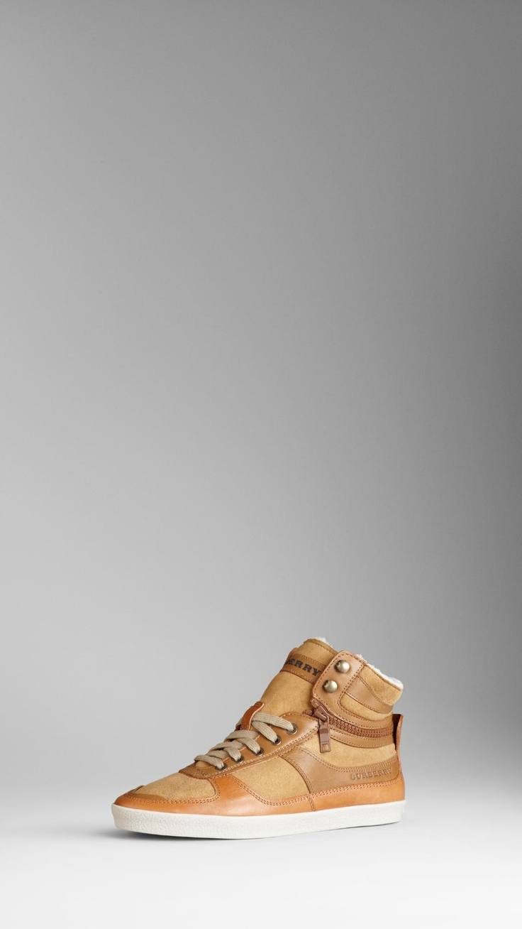 Burberry - Shearling Lined High-top Trainers