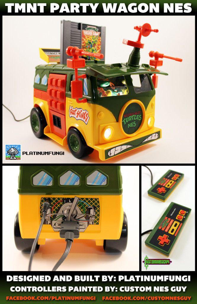 tmnt party wagon nes nintendo turtle van teenage mutant ninja turtles mod platinumfungi custom guy jared guynes 2014 movie