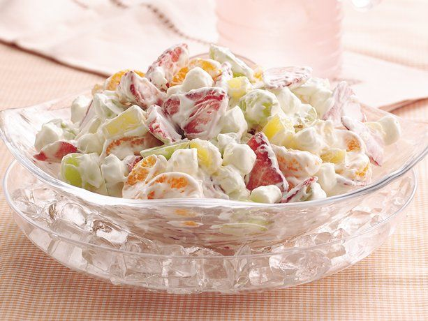 Pudding Fruit Salad - you can also  fold the vanilla dry pudding into the cool whip instead of using prepared pudding (what I do) and use whatever fruits you like. This stuff is heaven!
