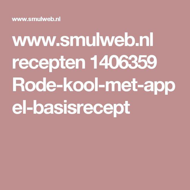 www.smulweb.nl recepten 1406359 Rode-kool-met-appel-basisrecept