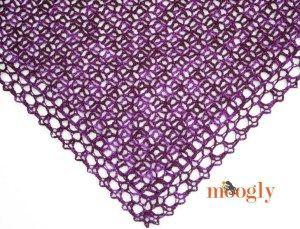 Châle au crochet très fin - La Grenouille Tricote