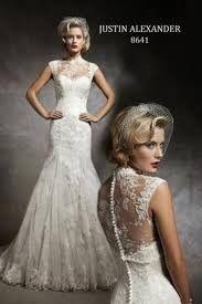 Justin Alexander, 8641 Lace Size 12 Wedding Dress For Sale | Still White