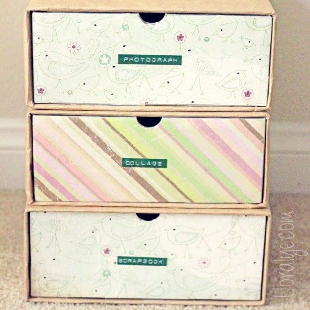 DIY Shoebox Crafts Shoebox Organizer Drawers