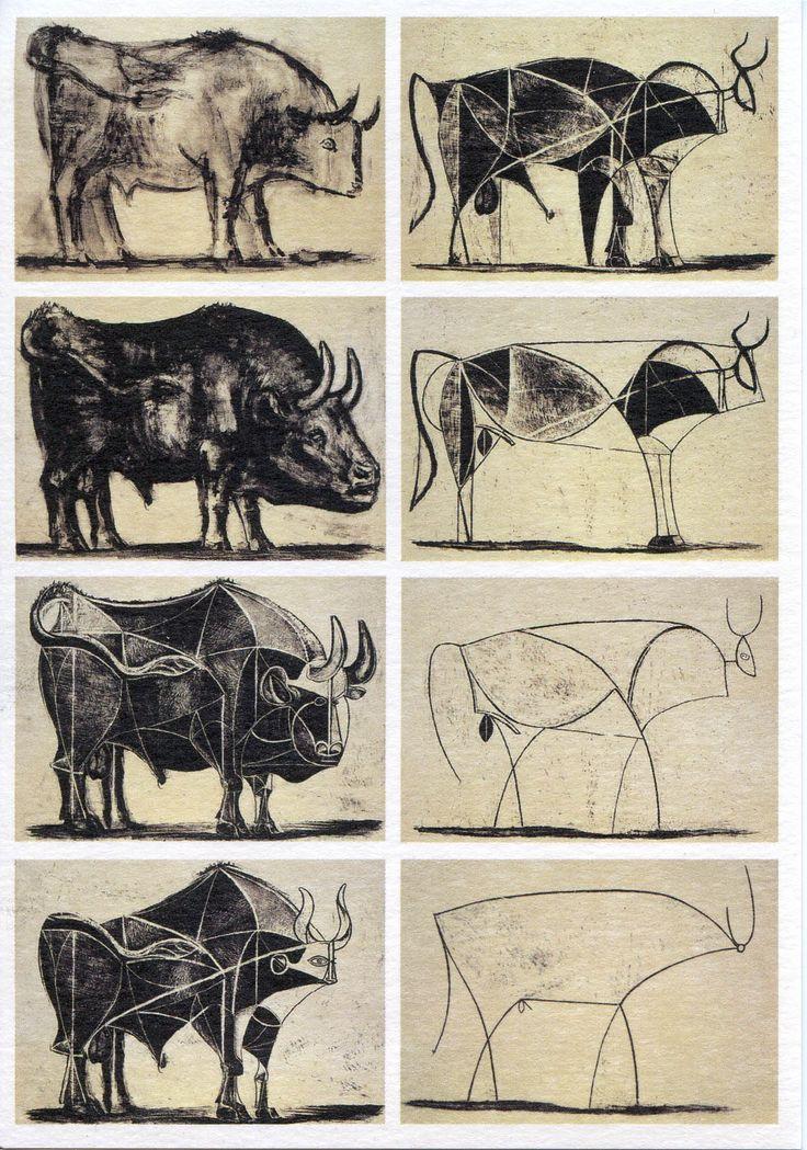 Pablo Picasso, Les 11 états successifs de la lithographie Le Taureau , 1945.