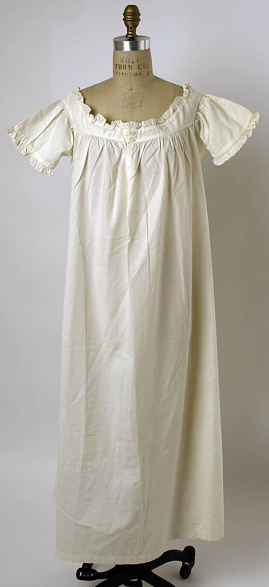 Chemise  Date: 1830s Culture: American or European