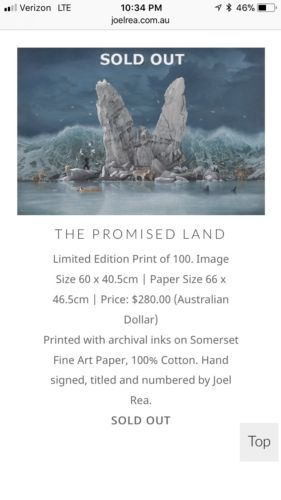 #art Joel Rea The Promised Land Limited Edition 100 RARE MINT please retweet