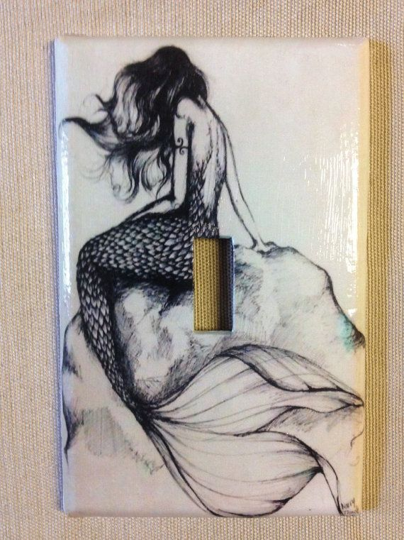 Hey, I found this really awesome Etsy listing at https://www.etsy.com/listing/244785318/mermaid-light-switch-plate
