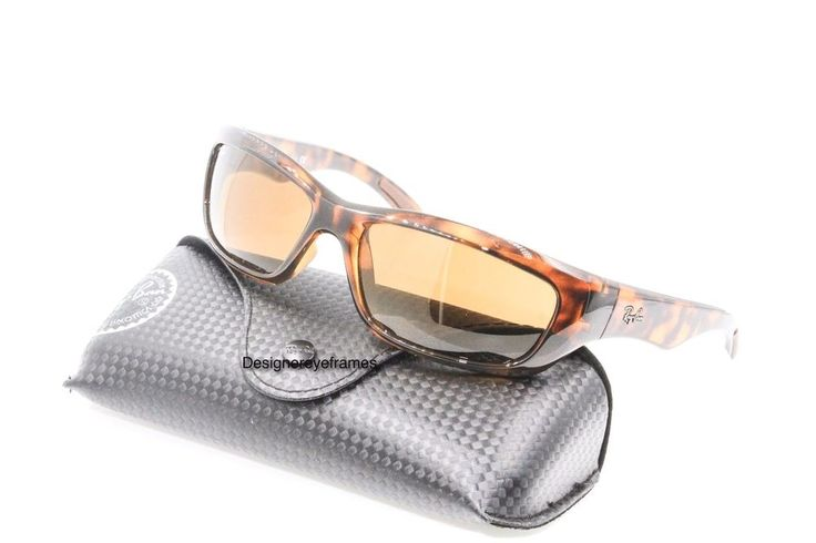 Ray Ban Active RB 4160 710 Havana Brown Gradient Wrap Sunglasses NWC AUTH #RayBan #Active