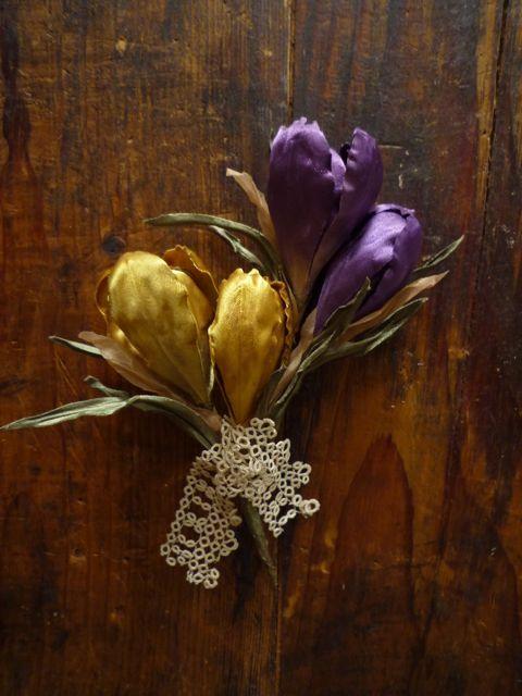 Spring Flower Bouquet〜*染め花のコサージュ* : honeysuckle vine