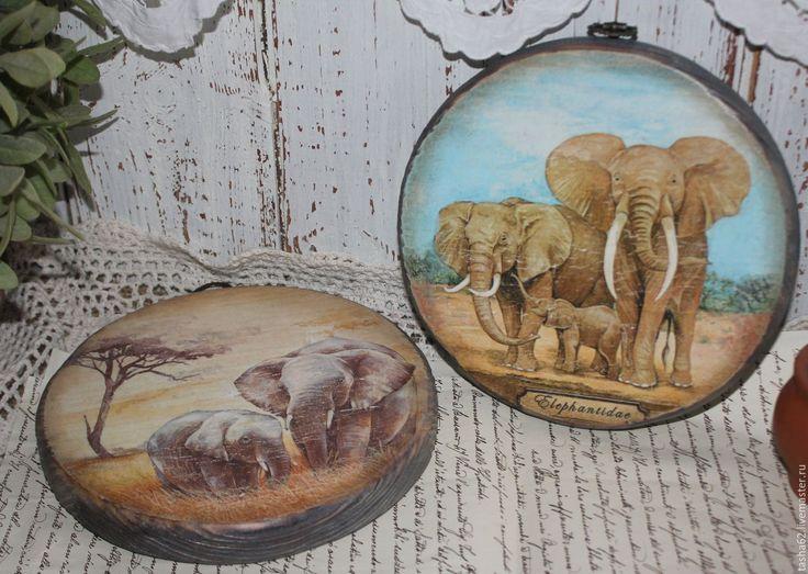 """Купить Сырные досочки """"Слоники"""" - голубой, бежевый, слоники, африканский стиль, досочка для кухни"""