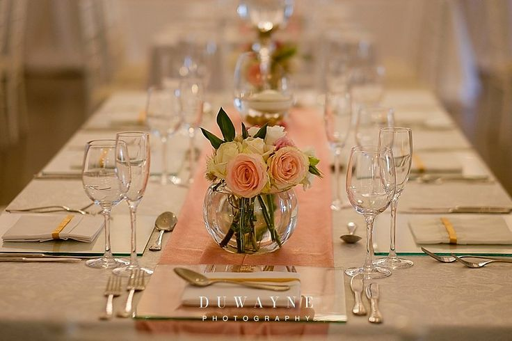 Clean and romantic table setting. See more - http://ohsoprettyplanning.com/cape-town-wedding-planner/galleries/#jade