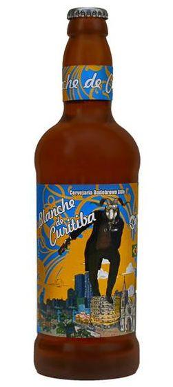 Cerveja Bodebrown Blanche de Curitiba, estilo Witbier, produzida por Cervejaria Bodebrown, Brasil. 5.200000% de álcool.