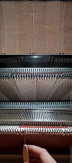 "Вязание узора ""зигзаги"" - Ярмарка Мастеров - ручная работа, handmade"