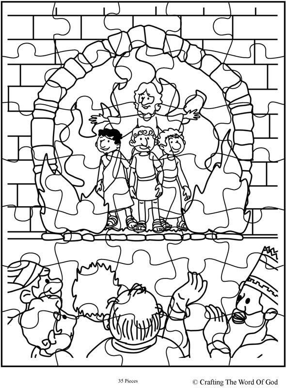 dibujos para colorear de daniel en el foso de los leones autothe fiery furnace puzzle day 3