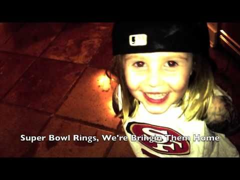 Little girl  with TATS raps about Colin Kaepernick, 49ers..hmm... Nice song...Now get the alcohol & some cotton squares...