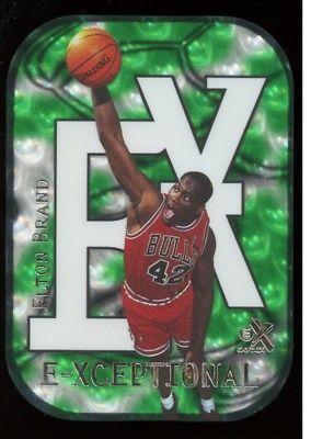 1999-00 EX E-X ELTON BRAND E-XCEPTIONAL GREEN #14XC 345/500 RC RARE please retweet
