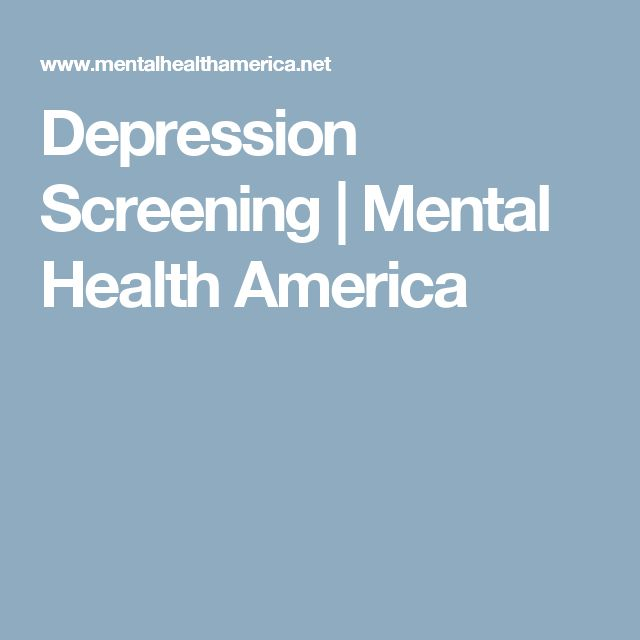 Depression Screening | Mental Health America